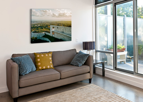 SUNSET AT THE GETTY DAVID YOON  Canvas Print