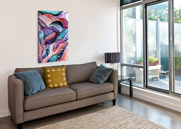 ARTDECO ABSTRACT LINEAR INTERLACING PATTERN NISURIS ART  Canvas Print