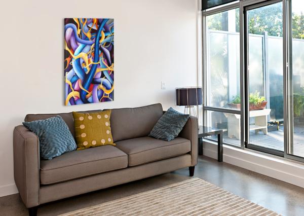INTERLACING VIVID CONTEMPORARY ABSTRACT NISURIS ART  Canvas Print