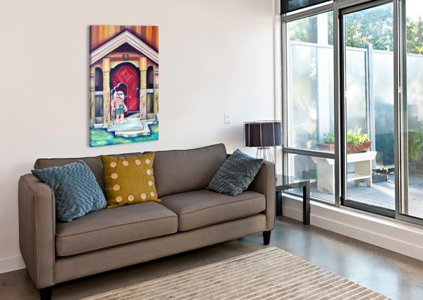 SCANDINAVIAN FOLKLORE TROLL ARTWORK  NISURIS ART  Canvas Print