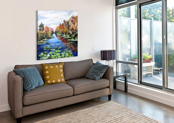 DANUBE RIVER WATERCOLOR SEASCAPE NISURIS ART  Canvas Print