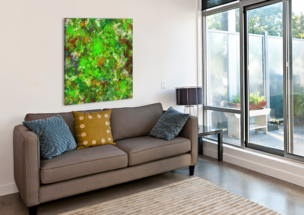 SLIPPERY GREEN ROCKS KEITH MILLS  Canvas Print