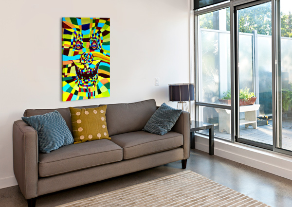 WATECOLOR CONTERMPORARY POP SURREALISM CLOWN  NISURIS ART  Canvas Print