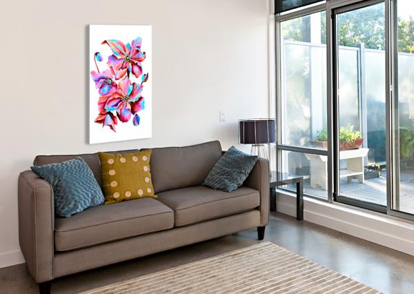 HIMALAYA HOT FUSHIA POPPIES NISURIS ART  Canvas Print