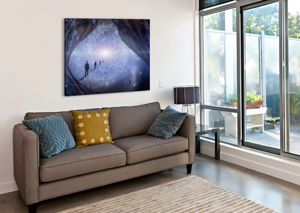 MAN IN UNIVERSE BRUCE ROLFF  Canvas Print
