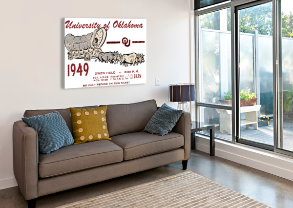 UNIVERSITY OF OKLAHOMA GIFT IDEAS FOR SOONER FANS ROW ONE BRAND  Canvas Print
