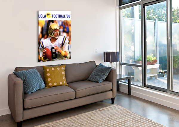 RETRO COLLEGE SPORTS POSTERS UCLA BRUINS FOOTBALL ROW ONE BRAND  Canvas Print