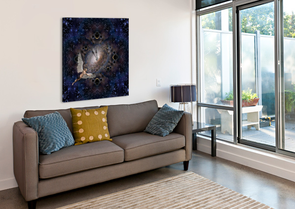 ANGEL IN SPACE BRUCE ROLFF  Canvas Print