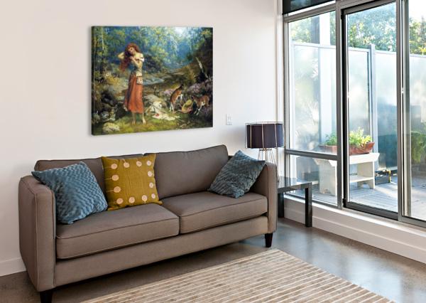 AUDREY'S TOILETTE EDWARD ROBERT HUGHES  Canvas Print