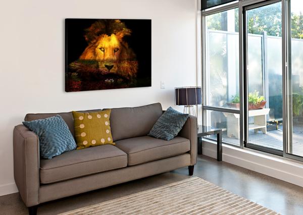 THE LION WATCHES AURELIA SCHANZENBACHER SISTERS FINE ARTS  Canvas Print