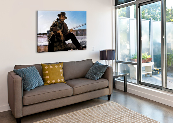 CLINT EASTWOOD AS THE MAN WITH NO NAME DAN  AVENELL  Canvas Print