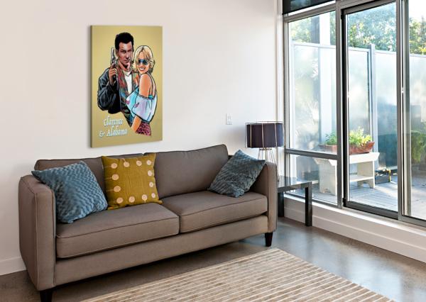 TARANTINO: TRUE ROMANCE - CLARENCE AND ALABAMA DAN  AVENELL  Canvas Print