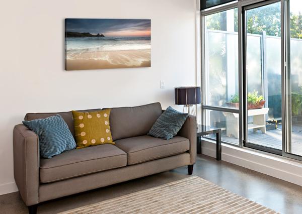 THREE CLIFFS BAY SWANSEA LEIGHTON COLLINS  Canvas Print