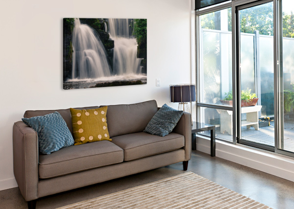 WATERFALLS IN PENLLERGARE WOODS LEIGHTON COLLINS  Canvas Print