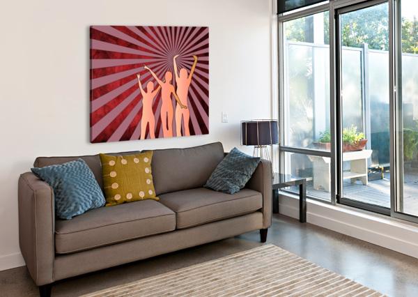 DANCING GIRLS BRUCE ROLFF  Canvas Print