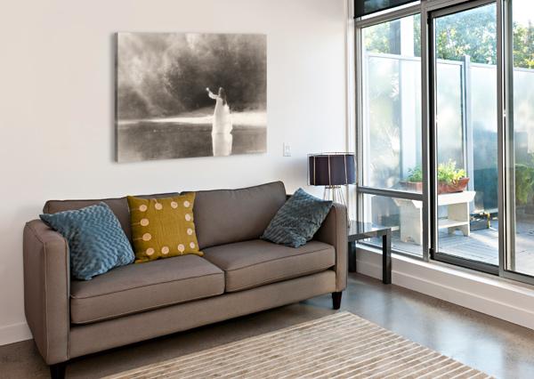 LADY BY THE LAKE DANIEL THIBAULT ARTISTE-PHOTOGRAPHE  Canvas Print