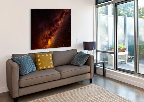GALACTIC CORE EXPLOSION MUMBLEFOOT  Canvas Print