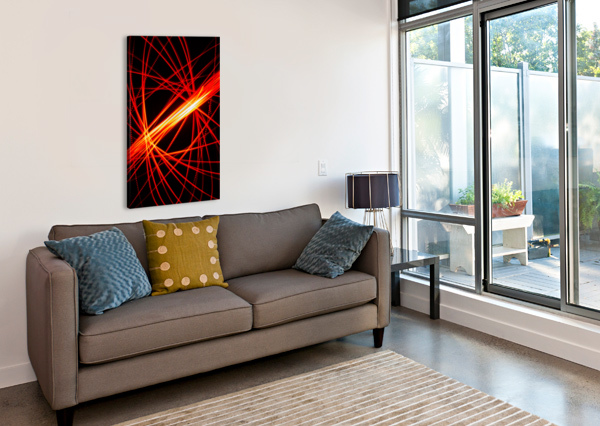 ELECTRON SPIN 1 MUMBLEFOOT  Canvas Print