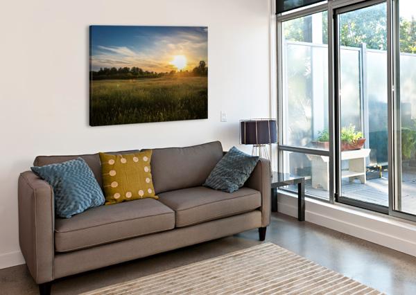 CREEKSIDE SUNSET 1 VICTOR ROSE PHOTO  Canvas Print