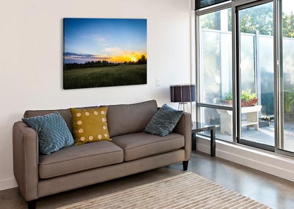 CREEKSIDE SUNSET 2 VICTOR ROSE PHOTO  Canvas Print