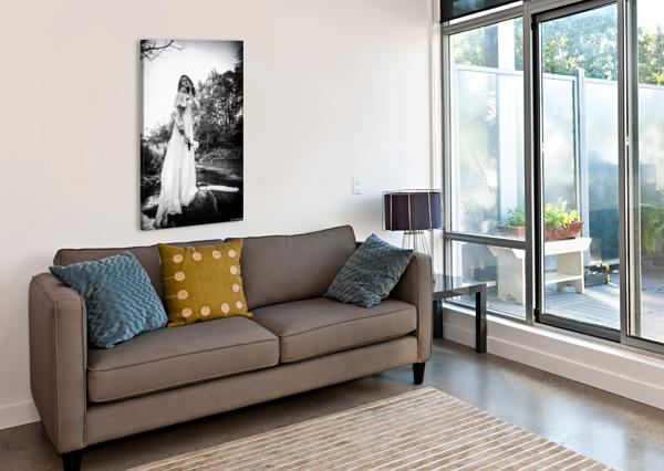 LINQUIETUDE DOPHELIA DANIEL THIBAULT ARTISTE-PHOTOGRAPHE  Canvas Print
