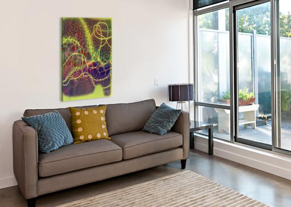 ABSTRACTART07 KHALID SELMANE FARES  Canvas Print