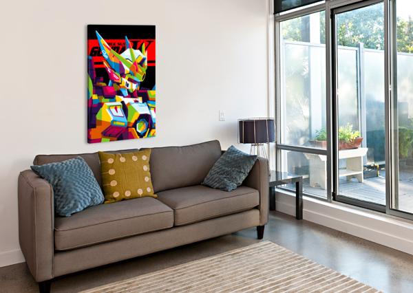 WINGS GUNDAM ZERO POP ART WPAPRINT  Canvas Print