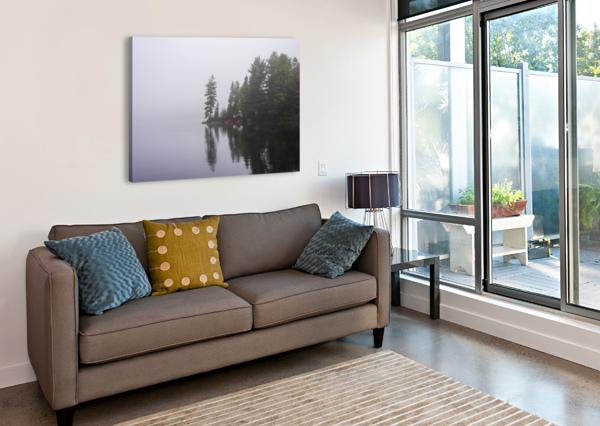 KOSHLONG LAKE FOG CATHIE WHEELDON  Canvas Print