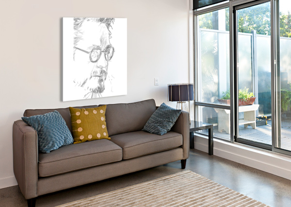 ROBERT DOWNY JR. - CELEBRITY PENCIL ART ART LOVER  Canvas Print