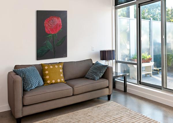 SINGLE RED ROSE SHANKAR KASHYAP  Canvas Print
