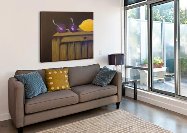 LEMON AND PLUMS SHANKAR KASHYAP  Canvas Print