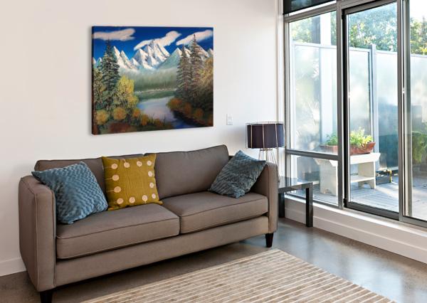 MOUNTAIN LAKE SHANKAR KASHYAP  Canvas Print