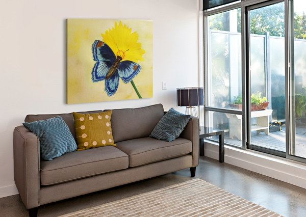 BLUE BUTTERFLY SHANKAR KASHYAP  Canvas Print