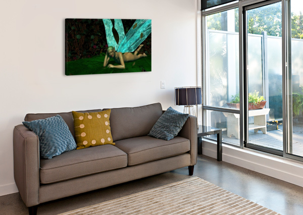 RESTING FAE BEQUIN  Canvas Print