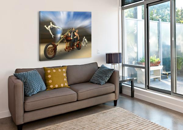 DESERT RIDE BEQUIN  Canvas Print