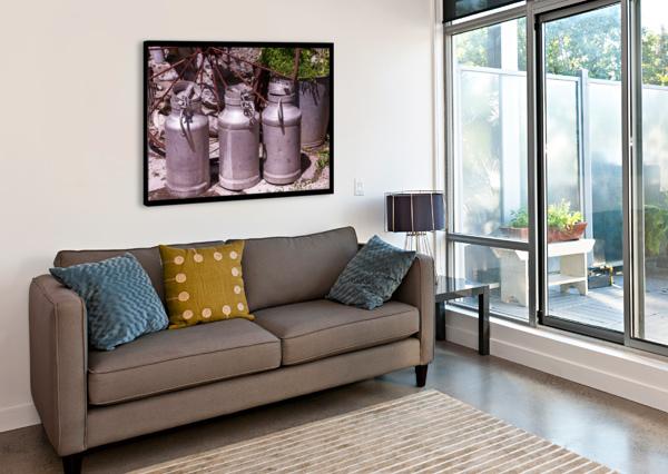 RUSTIC MILK CANS DEPACE-  Canvas Print