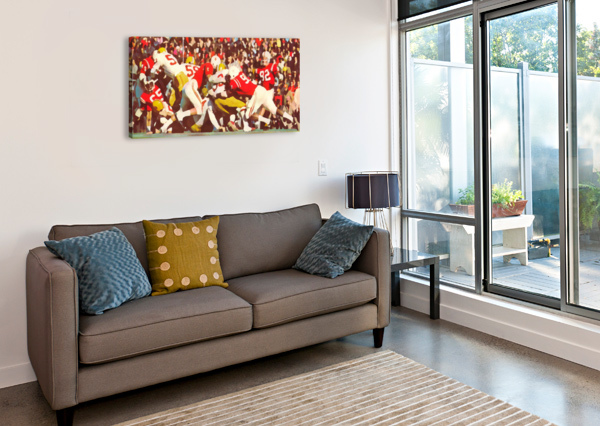 SATURDAY AFTERNOON IN LINCOLN ROW ONE BRAND  Canvas Print