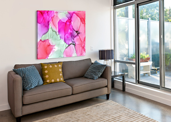 HAPPINESS IN PINK AMBER LAMOREAUX  Canvas Print