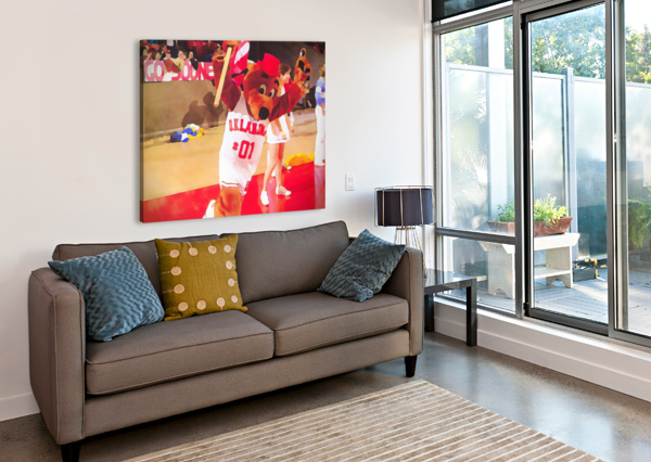 COLLEGE MASCOT ART TOP DAUG OKLAHOMA SOONERS BASKETBALL ART ROW ONE BRAND  Canvas Print
