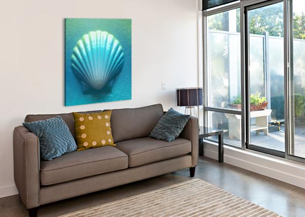 BLUE SHELL BILL GIMBEL  Canvas Print