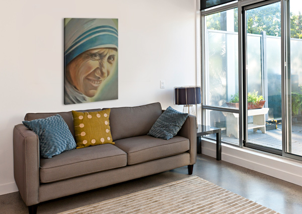 MOTHER TERESA (C) BILL GIMBEL  Canvas Print