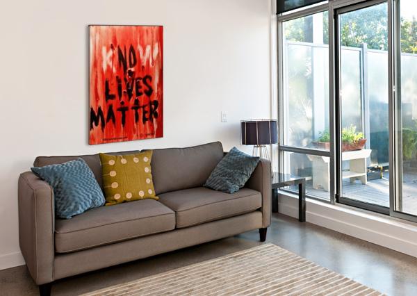 KNOW  LIVES MATTER BILL GIMBEL  Canvas Print