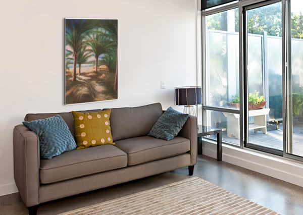 SHADY BEACH BILL GIMBEL  Canvas Print