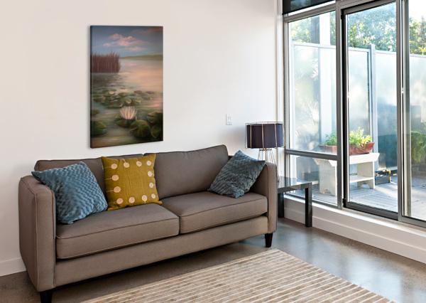 WATER LILLIES BILL GIMBEL  Canvas Print