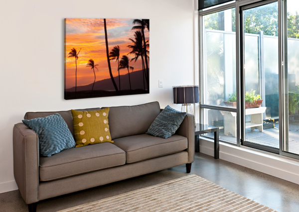 MAUI PALMS HOLLIE  Canvas Print