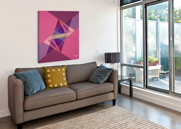 ABSTRACT ART 07 KHALID SELMANE FARES  Canvas Print