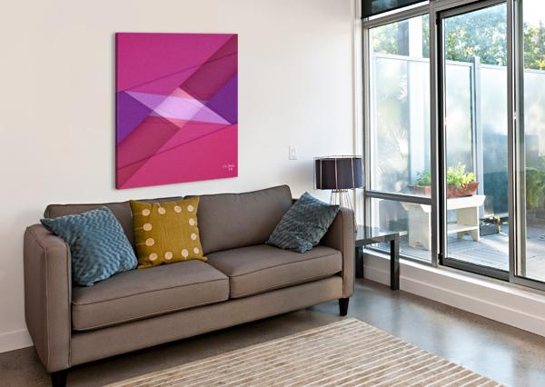 ABSTRACT ART 11 KHALID SELMANE FARES  Canvas Print
