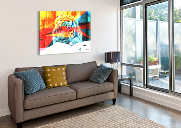 TIGER IN ABSTRACT FORM DEPACE-  Canvas Print