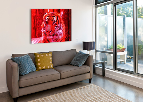 RARE RED TIGER DEPACE-  Canvas Print