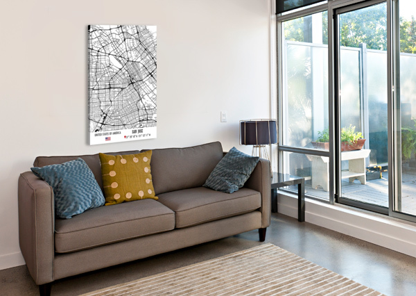 SAN JOSE USA ARTISTIC PARADIGMS  Canvas Print